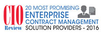 20 Most Promising Enterprise Contract Management Solution Providers - 2016